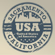 Grunge rubber stamp with name of California, Sacramento, vector