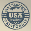 Grunge stamp with name of California, San Francisco, vector