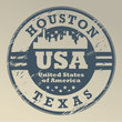 Grunge rubber stamp with name of Texas, Houston, vector