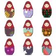 matryoshka dolls scrapbook on white
