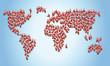 Weihnachtsmänner formen Weltkarte
