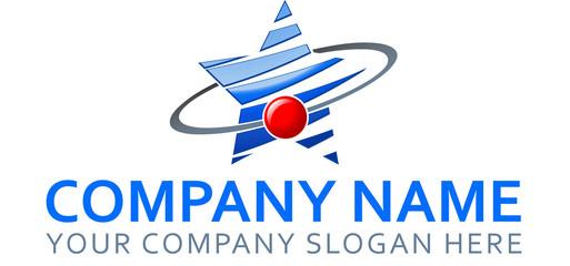 Blue Star Company Logo Vector