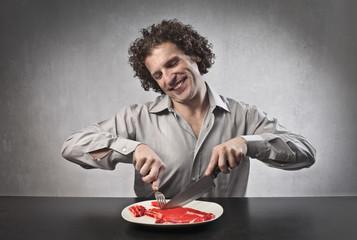 Eating a Steak