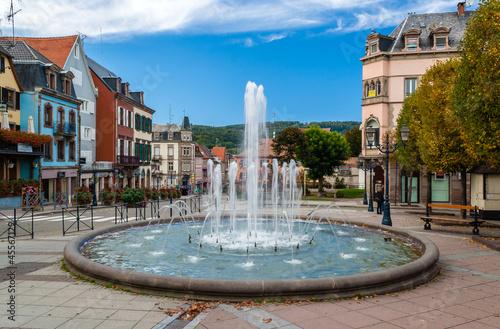 Leinwanddruck Bild Fountain in Saverne, Alsase, France