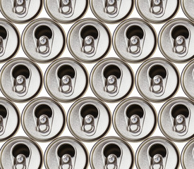 metal beer cans