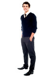 Full length portrait of a school going youngster poster