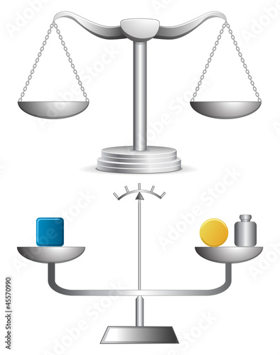 Balance vector illustration