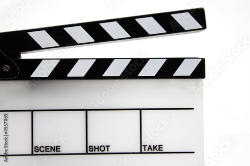 Close up of Clapper board/slate