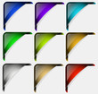 Colorful vector corners set
