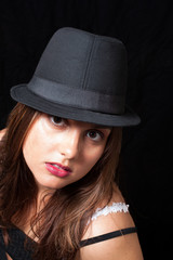 Headshot of girl in hat