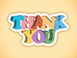 THANK YOU card (a lot very much congratulations)