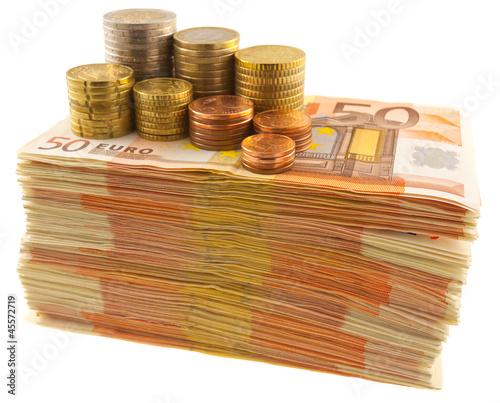 liasse de billets et pièces
