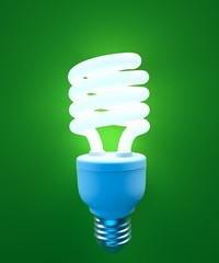 an energy saving light bulb