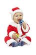 Small smiling Santa