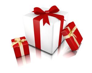 Tre pacchi regalo