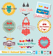 Vector Set: Retro Bikini and Swimsuit Labels and Stickers