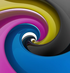 Spiral of CMYK colors © PiK