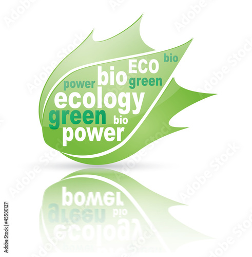 Vector green Ecological symbol