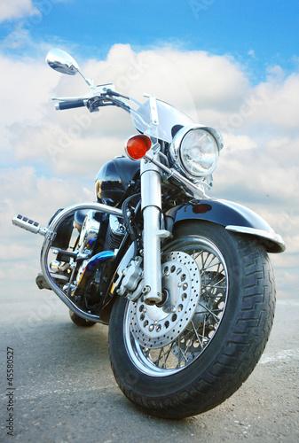 big black motorcycle