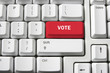 Voting Concept with Computer Keyboard