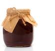 Strawberry jam isolated on white