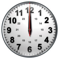 12 bw clock