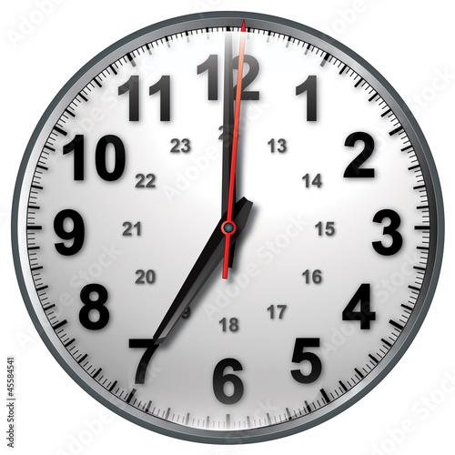7 bw clock
