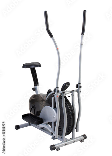 Walking and cycling excercise tool on white