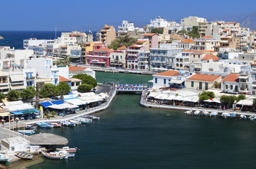 Aghios Nikolaos city at Crete island in Greece