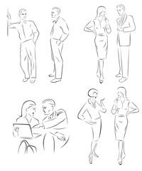 Иллюстрация беседующих персонажей.