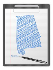 clipboard Alabama map
