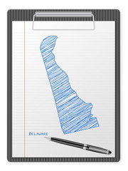 clipboard Delaware map