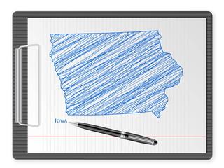 clipboard Iowa map