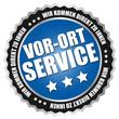 """Button """"Vor-Ort Service"""" Blau/Schwarz/Silber"""