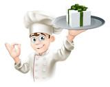 Chef giving gift