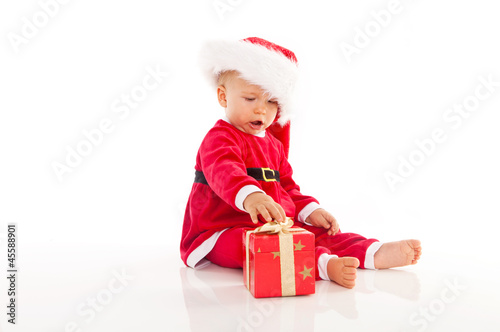 happy baby at christmas