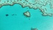Korallenriff Heart Reef im Great Barrier Reef in Australien - Luftaufnahme