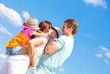 Fototapety familie blauer himmel