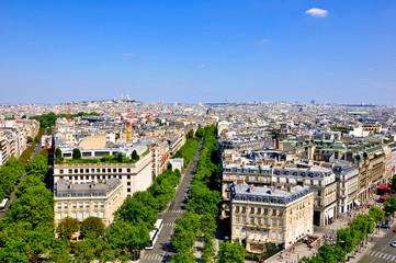 View of Paris from the Arc de Triomphe.