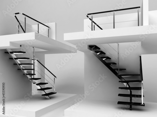 scala rendering 3d, showroom allestimento
