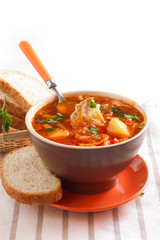 Ukrainian traditional borsch