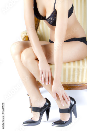 woman female legs with high heels