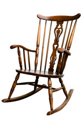 Vintage Damaged Rocking Chair - Left Side Tilted