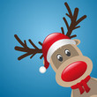 rudolph reindeer red nose hat and scarf