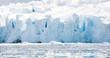 White icy beach in Antarctica