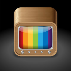 Icon for television set
