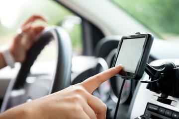 Finger setting navigation system