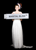 Happy Bride On The Road To Marital Bliss