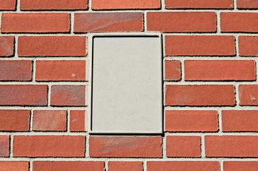 Mauer Schild Beton
