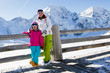 Skiing, winter -  skiers on winter vacations